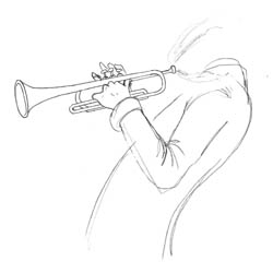 Study of Trumpet Player...