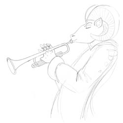 Study of Complete Trumpet Player...